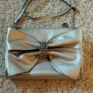 Silver Bow Purse