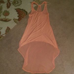 Relist, peach sheer back tank