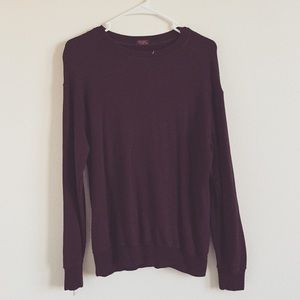 Brandy Melville soft maroon sweater