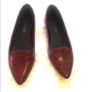 ALDO Shoes - ALDO Burgundy Flats / 7