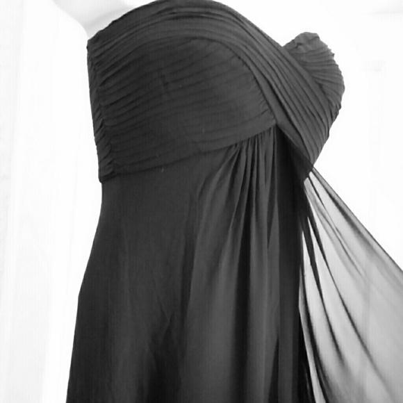 Tadashi Shoji Dresses & Skirts - Tadashi Plus Size Silk black Strapless Gown