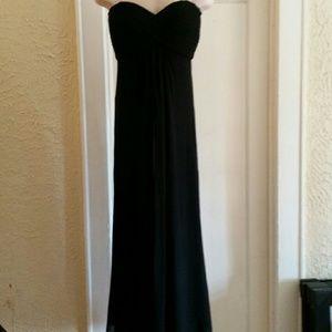 Tadashi Shoji Dresses - Tadashi Plus Size Silk black Strapless Gown