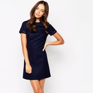 ASOS New Look Bonded Lace Shift Dress