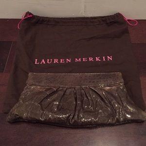 Lauren Merkin Handbags - LAUREN MERKIN GRAY PATENT CLUTCH