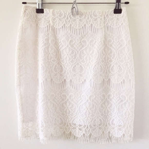 71 dresses skirts white lace high waisted skirt