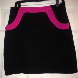 Black INC skirt with pink details size 8