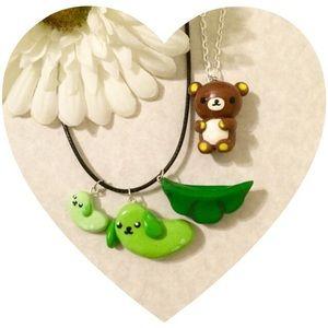 2 Kawaii Necklaces Charm Bear