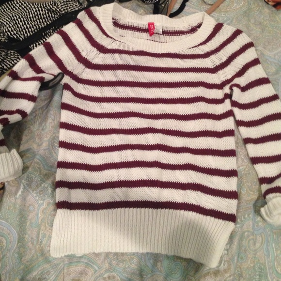 50% off H&M Sweaters - burgundy striped sweater from Kandace's ...
