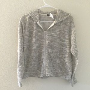 Brandy Melville speckled zip up hooded jacket