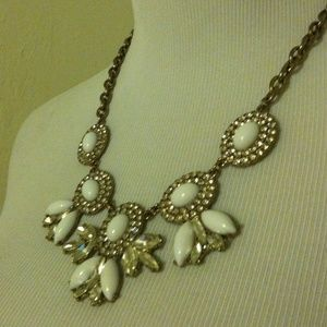 J. Crew Jewelry - White and crystal J. Crew necklace