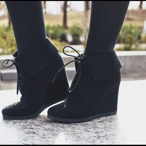 Target Boots - Lace up wedges