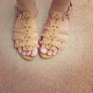 Shoe Dazzle Shoes - Spiked Gladiator Sandals