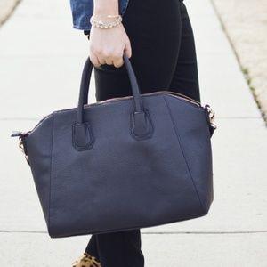JustFab Handbags - Navy classic Satchel