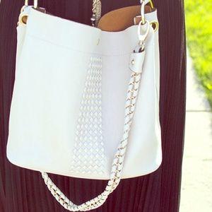 JustFab Handbags - Studded slouch satchel