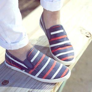 Seavees Shoes - Stripe Slip On Sneakers