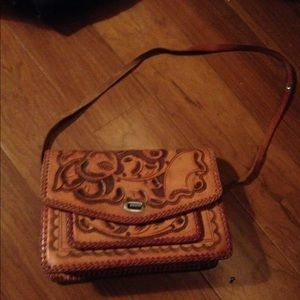 Vintage Leather Detailed Purse