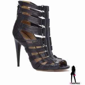 L.A.M.B. Shoes - LAMB Strappy Leather Stiletto Sandal 6.5