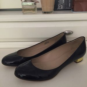 J.crew Black Patent Leather Flats