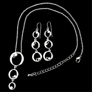Jewelry - Necklace and Earring set with rhinestones