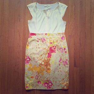 Gorgeous Floral J. Crew Pencil Skirt