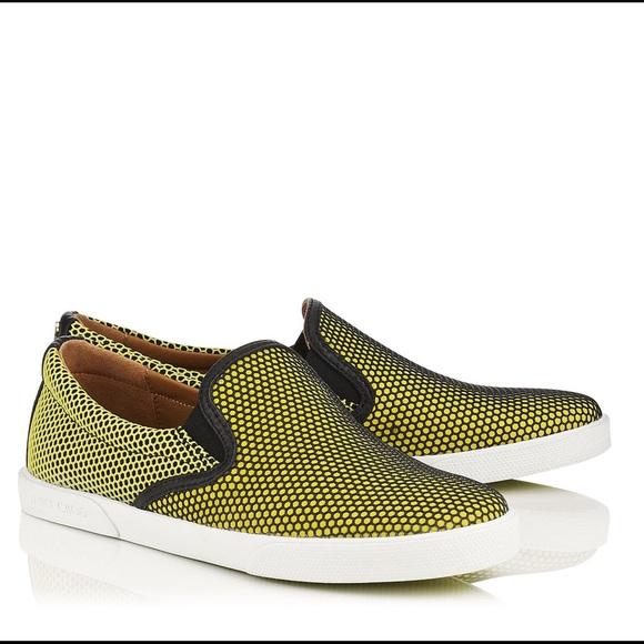 d504eb08d5f4 Jimmy Choo Demi Skate Shoe Yellow 40 10 NWT   box