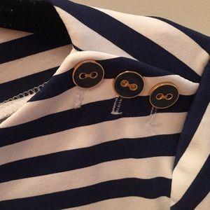 J. McLaughlin Tops - J. McLaughlin Wavesong Boatneck Striped Shirt