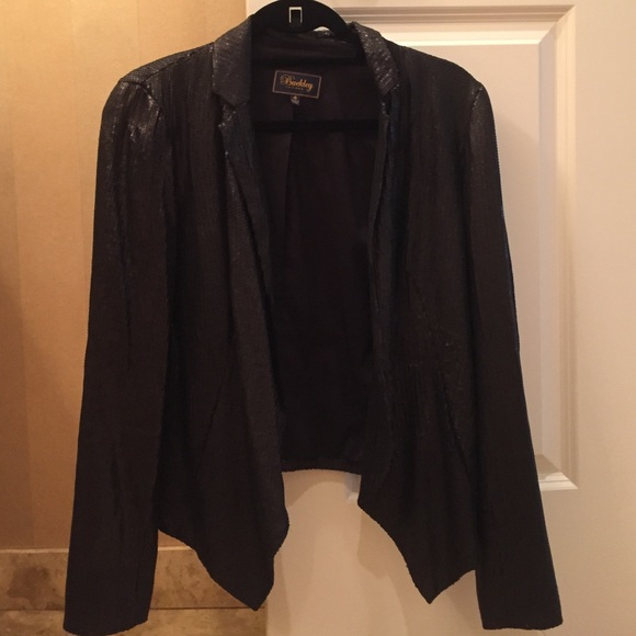 Buckley Jackets & Blazers - Black Sequined Blazer Size 4