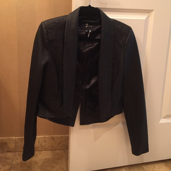7 for all Mankind Jackets & Blazers - 7 For All Mankind Cropped Leather Blazer