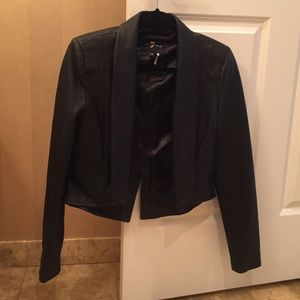 7 for all Mankind Jackets & Coats - 7 For All Mankind Cropped Leather Blazer