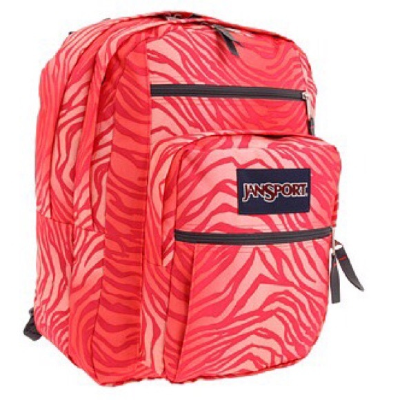 79% off Jansport Accessories - Jansport Big Student Pink Coral ...