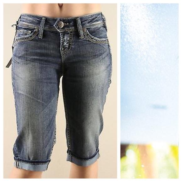 49% off Silver Jeans Denim - SILVER JEANS PLUS CAMDEN ROSE BERMUDA ...