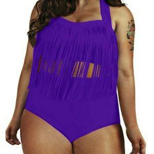 2 piece plus size bathing suit NWT