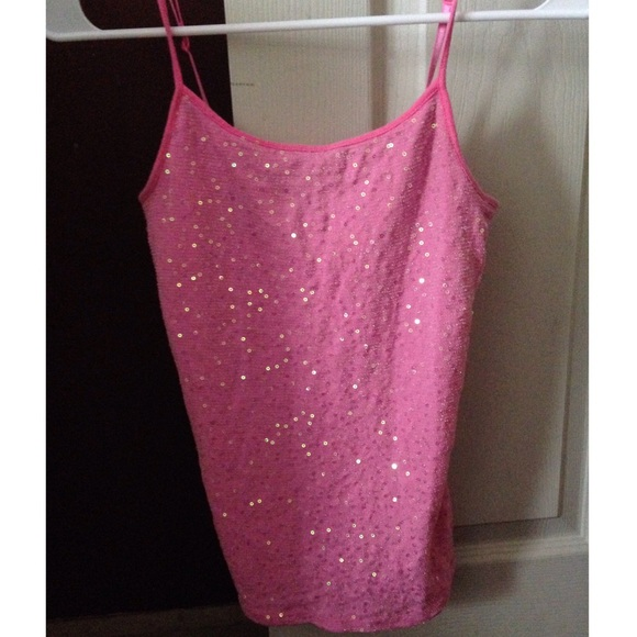68% off Justice Tops - Justice Pink Sequin Tank Top from ...