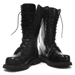 Steel Toe Combat Boots - Boot Hto