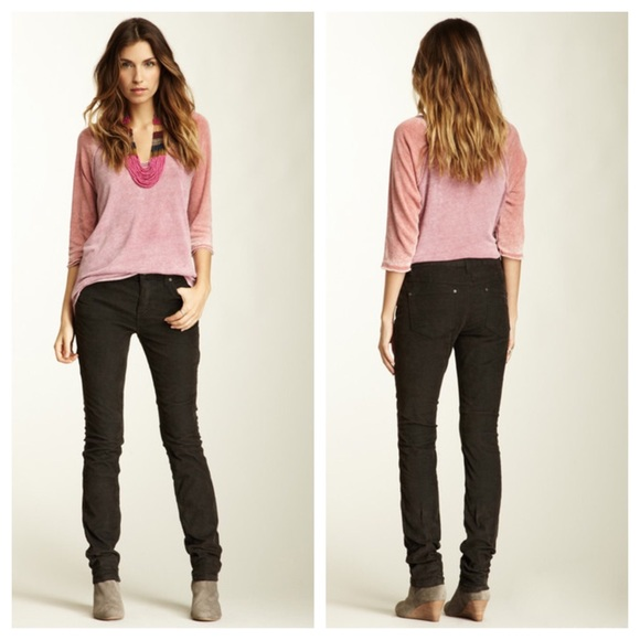 50% off Free People Pants - Free People High Rise Skinny PLUM ...