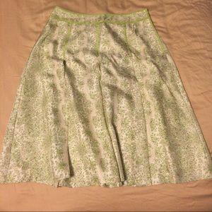Ann Taylor pleated Silk Skirt