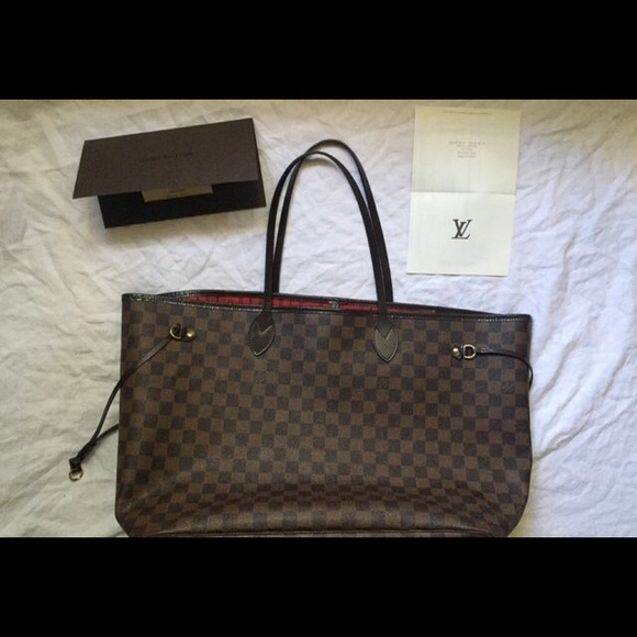 fb99de4859d4 Louis Vuitton Handbags - Authentic Louis Vuitton Damier Neverfull Bag.