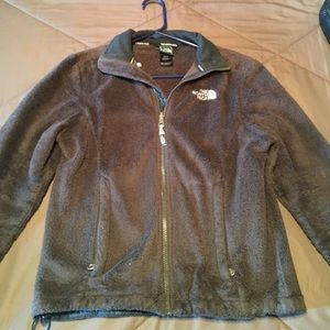 XS Dark brown North Face full zip jacket