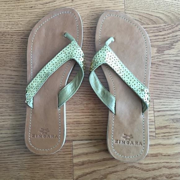 Zingara Shoes - Embellished flip-flops