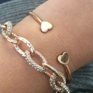 Jewelry - Rose Gold Layering Bracelet Set