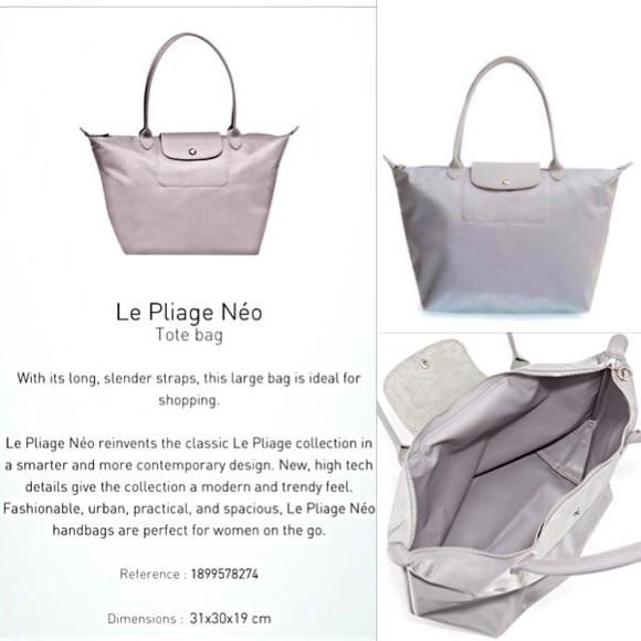 Longchamp Bag Le Pliage Size : Longchamp rare le pliage neo large nylon