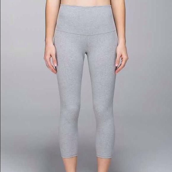 b186cf6616 lululemon athletica Pants - Light grey wunder under cotton roll down pants