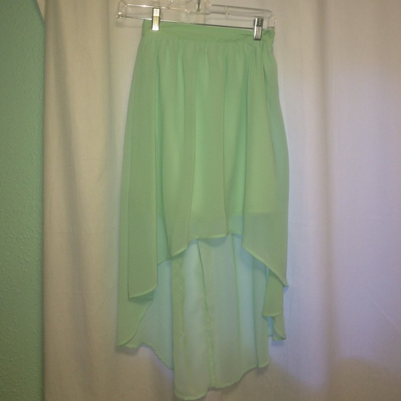 75 forever 21 dresses skirts mint green high low