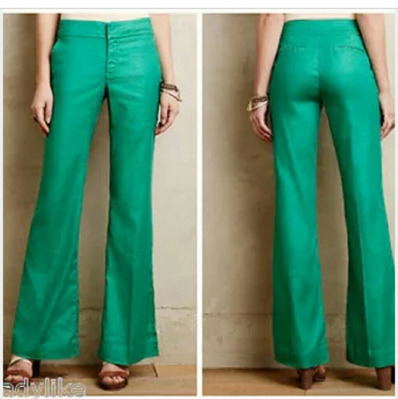 64% off Anthropologie Pants - Level 99 Jade Green pants from ...
