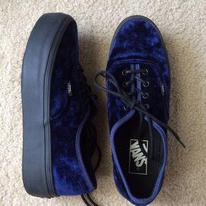 c63c337b93 Nasty Gal Shoes - blue velvet authentic platform vans