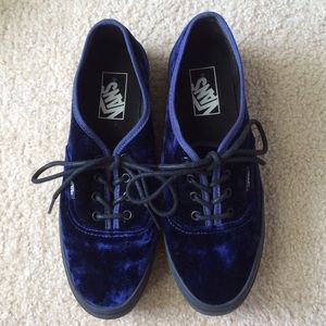 c63c337b93 Nasty Gal Shoes - blue velvet authentic platform vans