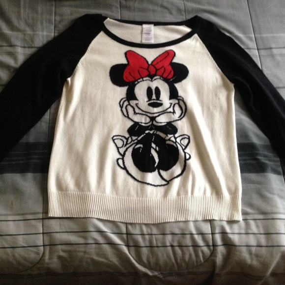 Disney Sweaters Womens Minnie Mouse Sweater Like New Poshmark