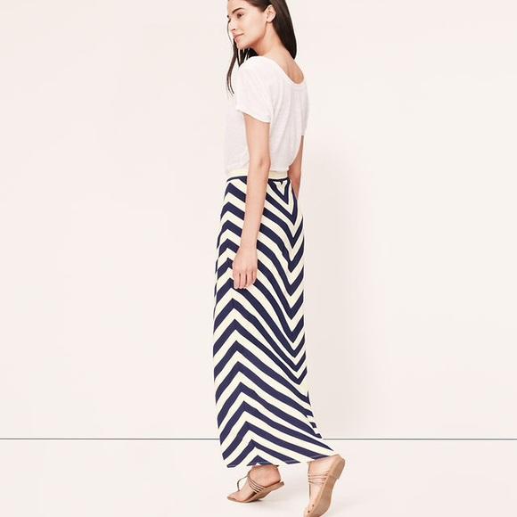 75 loft dresses skirts loft mitered stripe maxi
