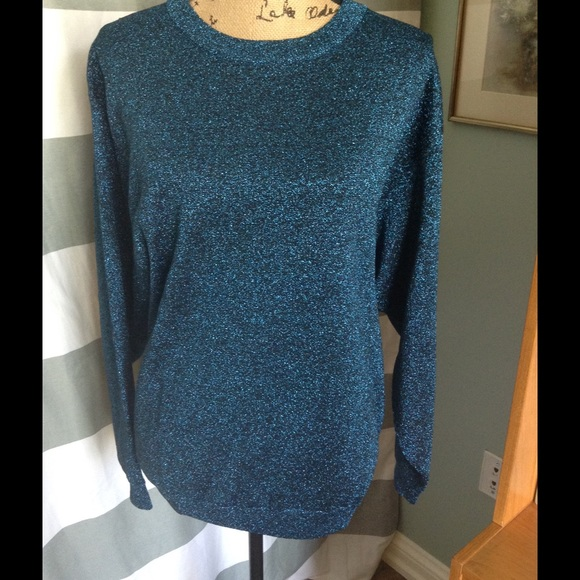 66% off J. Crew Sweaters - NWT J Crew Sparkly Blue Sweater from ...