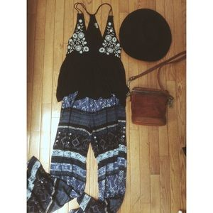 Urban Outfitters Wide-Leg Printed Pants